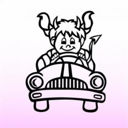 Auto samolepka Dítě v autě...