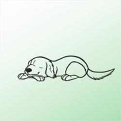 Auto samolepka Zvířata - Pes